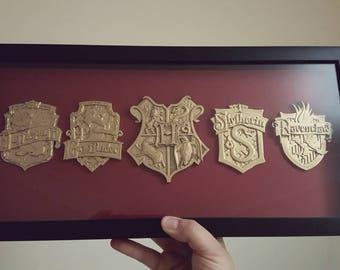 Hogwarts crests