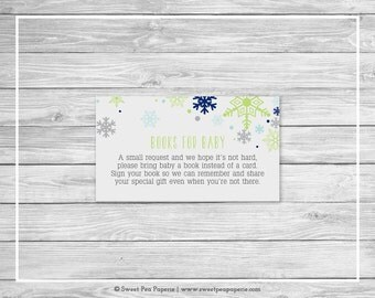Winter Baby Shower Book Instead of Card Insert - Printable Baby Shower Books for Baby - Baby It's Cold Outside - Books for Baby - SP142