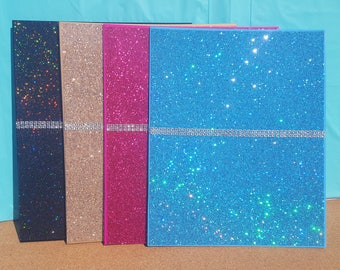 Bling Pocket Folder, (Your Choice of Color), Pink Folder, Blue Folder, Black Folder, Gold Folder, Glitter Folder, School Supplies, Folder