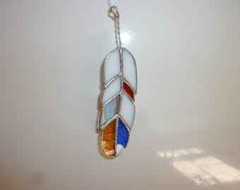 Stained glass Feather suncatcher,Feather,