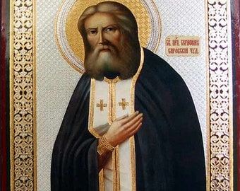 Saint Serafim Sarovskiy russian icon - #31bb