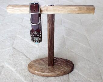 Walnut Dog Collar Stand - Medium