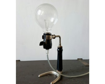 Vintage table lamp made with ancient door still laboratory | Old Table Lamp, handmade by our Lab.