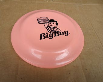 vintage frisbee game toy,big boy restaurant gift souvenir promotional,restaurant food advertising
