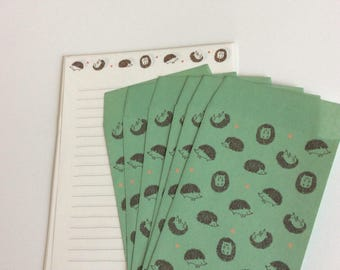Hedgehog Stationary Set: Junk Journals, Journaling, Mixed Media, Pen Pal letters, Invitations
