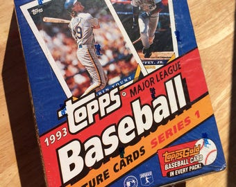 1993 Topps Baseball Cards-Series 1-Unopened Box