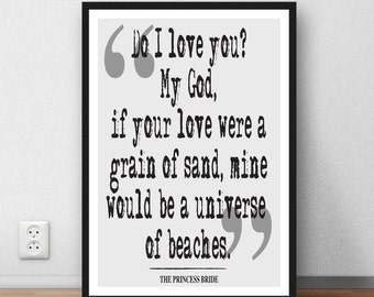 The Princess Bride -  quote print - Literary Quote, Book Quote, Literary Print, Literary Printable, Literary Wall Art, printable download