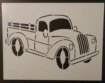 Old Vintage Truck #2 Custom Stencil FAST FREE SHIPPING