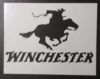 Winchester Rifle Ammo Horse Cowboy Custom Stencil FAST FREE SHIPPING