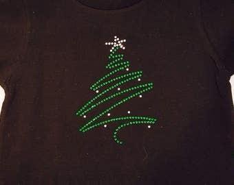 Toddler Rhinestone Christmas Tree T-Shirt