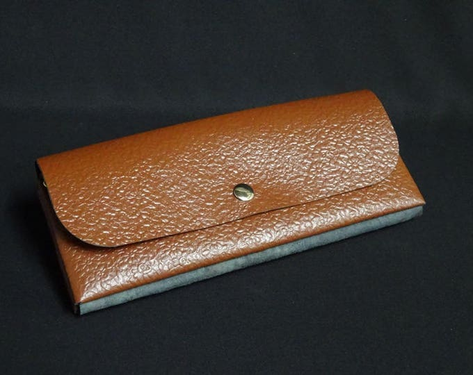 James Flat Purse - Brown Floral - Kangaroo leather purse with RFID Credit Card Blocking - Handmade in Australia -James Watson