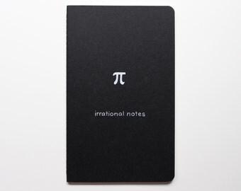 Pi Math Nerd Journal Notebook (LARGE) - Irrational notes - Pi Day funny hilarious mathematics number geek gift