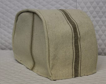 Tan Feedsack Toaster Cover
