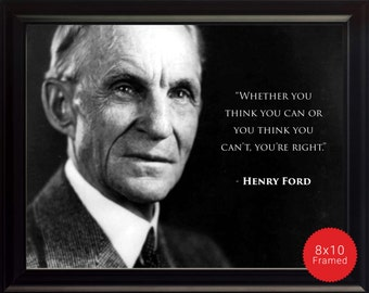 """Henry Ford Photo, Picture, Poster or Framed Quote """"Whether you think you can"""" - High Quality Print Famous Quotes Motivational Posters"""