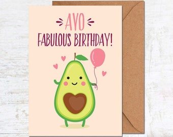 Avocado Birthday Card, Vegetarian Birthday Card, Birthday Card Funny, Birthday Card Boyfriend, Vegan Birthday Card, Birthday Card Girlfriend