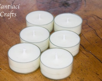 Set of 6 eco soy wax tea lights