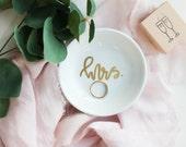 Mrs Engagement  Ring Dish