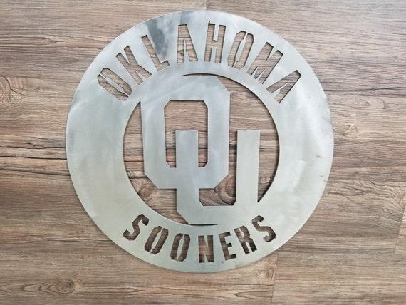 Oklahoma Sooners Cirlce With OU Logo Home Decor Football