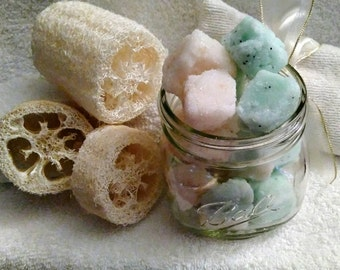 Pear Champagne Sugar Scrub Cubes~ Sugar Scrub~Face Scrub~Body Scrub~Organic Butter~Face And Body Cleanser~Moisturizing Scrub~