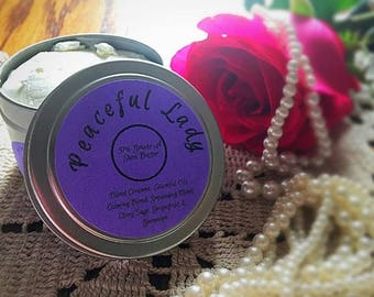 Peaceful Lady Shea Body Butter Lotion Essential Oils Blend