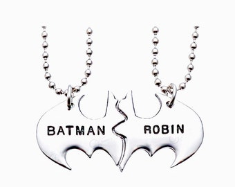 Highest quality New 2017 Batman robin necklace Christmas gift Creative gift chain jewellery pendant metal alloy