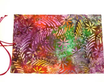 Silk Tarot Bag, Tarot Card Bag, Tarot Card Wrap, Batik Tarot Card Wrap, Batik Fern Tarot Bag, Gold Silk Tarot Card Bag, Batik Tarot Bag,