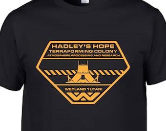 alien aliens 1986 weyland yutani prometheus covenant lv 426 hadleys hope nostromo sulaco sci fi film movie ridley scott marines tee t shirt