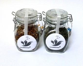 Tea Sampler with An Air Tight Sealed Glass Canister - Black Tea