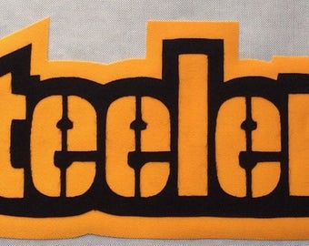 Huge Pittsburgh Steelers Iron On Patch