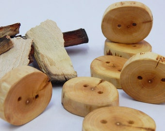 NATURAL WOOD BUTTON, Cherry Plum handmade wooden button, craft button, button embellishment, cushion buttons, all natural rustic wood button