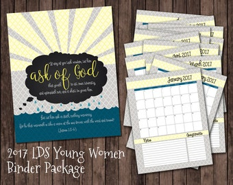 2017 Young Women Binder Package
