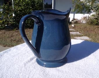 Lunar Blue Ceramic Pitcher by JC Penny