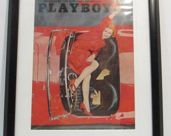 Vintage Playboy Magazine Cover Matted Framed : August 1963 - Nancy Perry