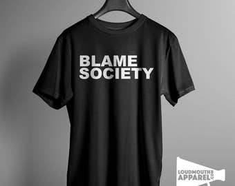 Blame Society Men's Worn by Jay-Z  T-Shirt Celebrity Rap Star Rapper Brooklyn Hip Hop