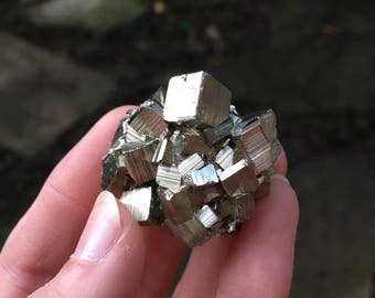Beautiful Natural Raw Pyrite Crystal Specimen 44.3g, from Huanzala Mine, Peru Metaphysical, Healing, Pagan Wicca