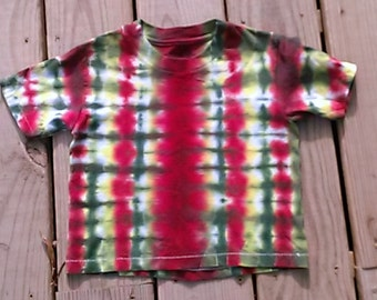 Tie dye rasta stripe t-shirt size 4T