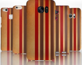 BG0134 Plastic hard case print, personalized/ custom/ personalised phone protective case brown red green stripes