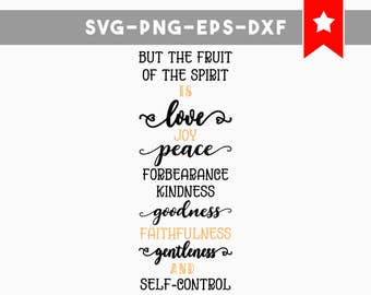 fruit of the spirit svg, bible quote svg, christian quote svg, wood signs sayings, scripture svg, christian svg, commercial use svg cricut