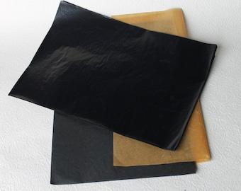 Carbon Copy Paper A4 Set of 100  vintage paper Craft Tools, multi use hand copy,  black paper,  dark lines