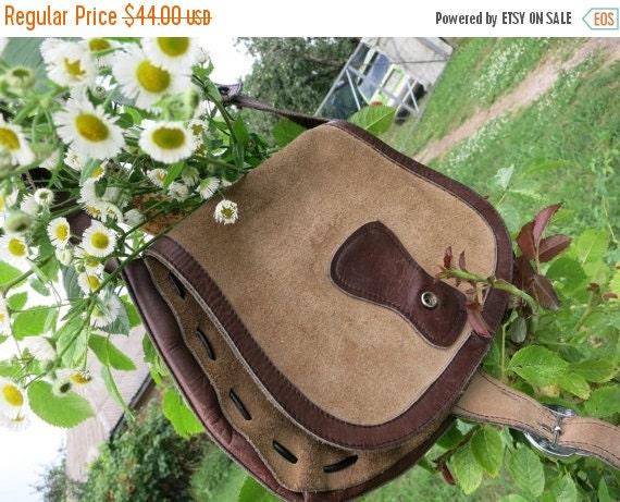 Football Days Sale That 'Seventies Show' Classic Suede Vintage Boho Bag / Handbag / Purse - Circa 1970