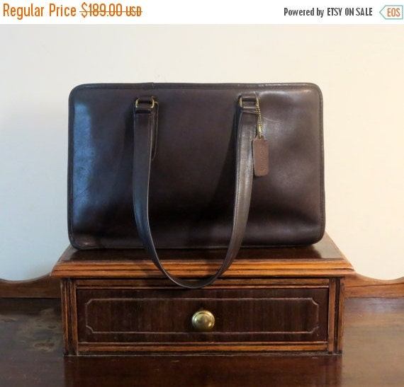 Football Days Sale Coach Open Marketing Tote Mocha Leatherware Made In New York City Style No 9665- VGC- Rare And Luxurious