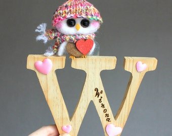 Baby letters cute owl