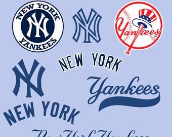 New York Yankees Svg, New york yankees clipart, Baseball svg, new york yankees dxf, baseball clipart, cut file, cricut, silhouette cameo