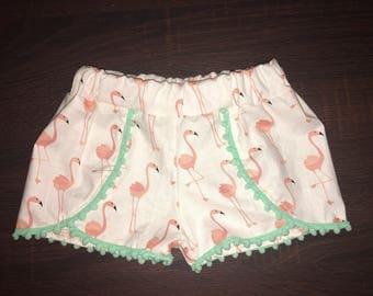 Flamingo coachella shorts