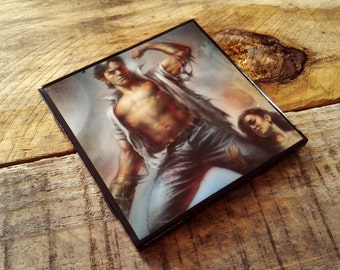Ash, Army of Darkness, comic book, ceramic, tile, drink, coaster, Hail to the King, Baby