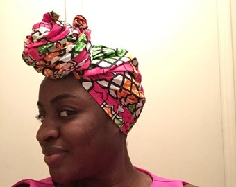 Pink African headwrap