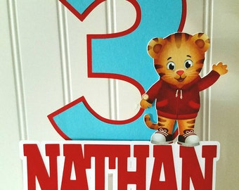 Daniel Tiger's Cake Topper, Daniel Tiger's Cake, Daniel Tiger's birthday party, Daniel Tiger party supplies, Daniel Tiger party picks