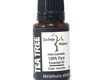 Tea Tree Essential Oil, Melaleuca alternifolia, Undiluted, Therapeutic Grade, , 2ml, 5ml, 15ml, 30ml, 100 ml