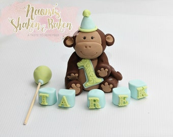 Monkey Edible Cake Topper