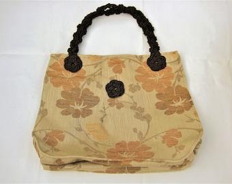 Japanese floral bag beige